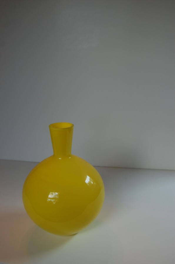 Small yellow vase