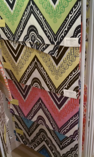 Trina Turk Spring fabric collection chevron