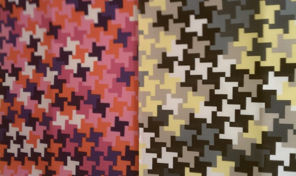Trina Turk Yellow/Gray and Pink/Purple Houndstooth