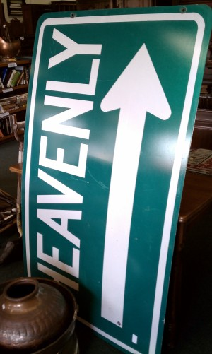 Heavenly road sign