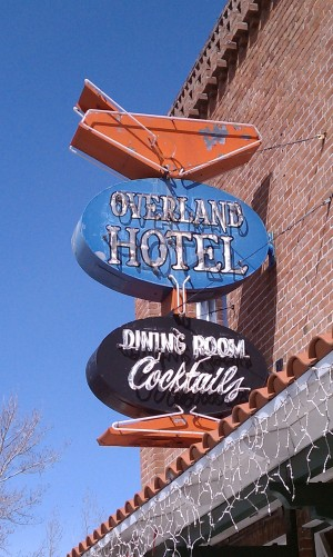 Over land Hotel Sign