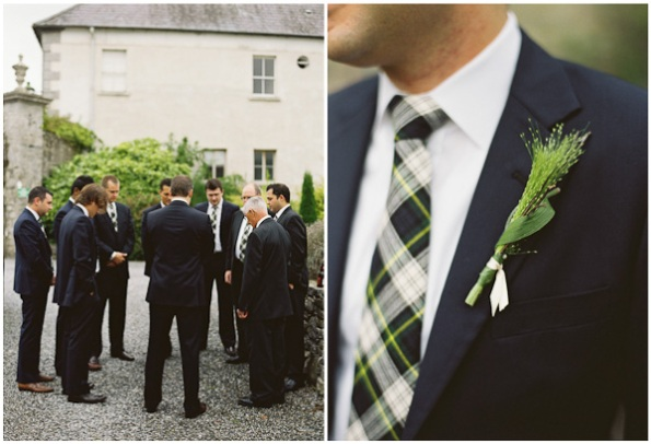 Groomsmen and plaid