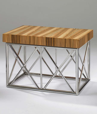 Milan occasional table with metal base