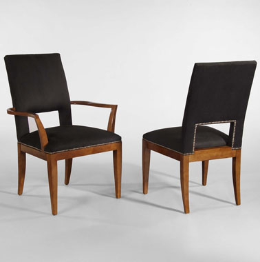 Milan Side Chair in black