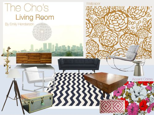 Mood board for Joy Cho Living Room SFAS