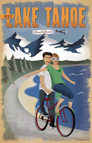 Tahoe final poster David and Joanna wedding invite