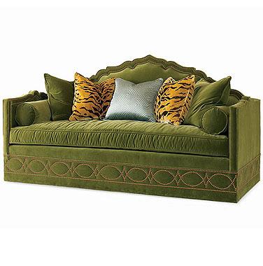 Veneitan sofa green velvet