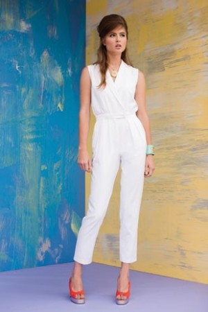 White jumpsuit from Trina Turk spring 2011