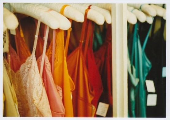 Rainbow coated closet
