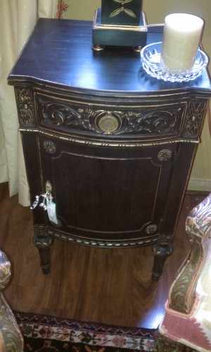 Black Nightstand from Gallery St. Elmo