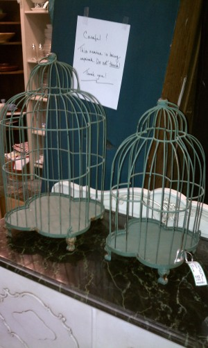 Turquoise Birdcages from Gallery St. Elmo