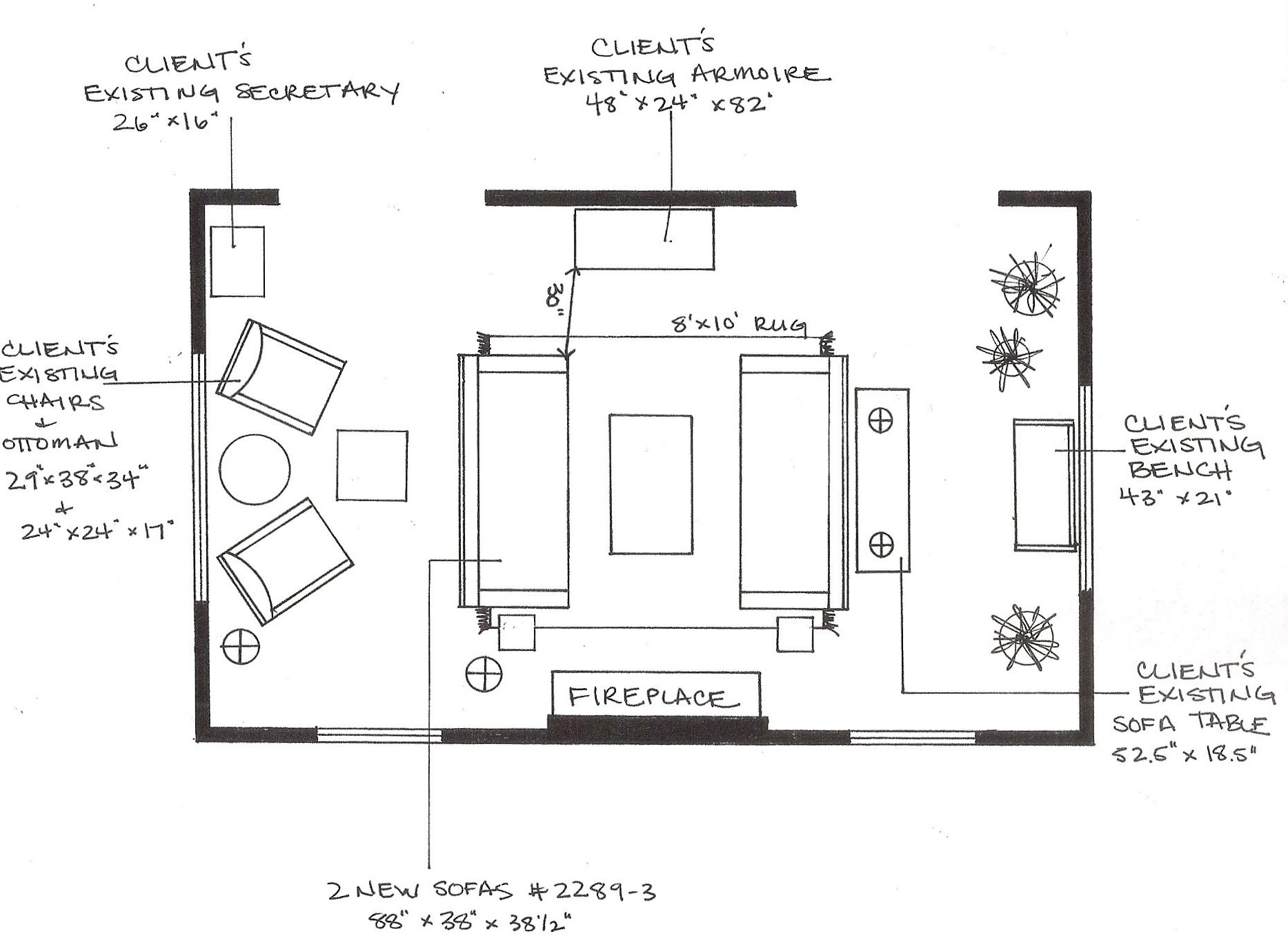 What i m working on day one cline rose for Drawing room layout design