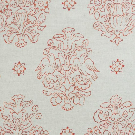 Marianne Coral fabric from Victoria Hagan