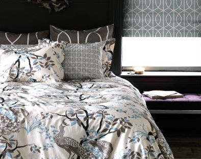 Peacock+Full+-+Queen+Duvet+Set+in+Dove
