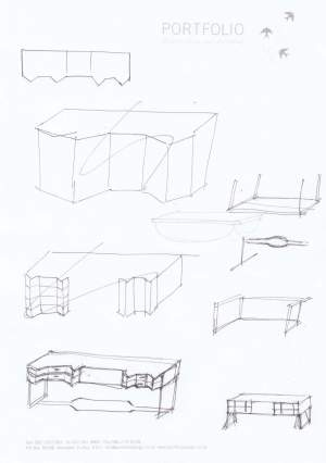 sketch of serving pieces