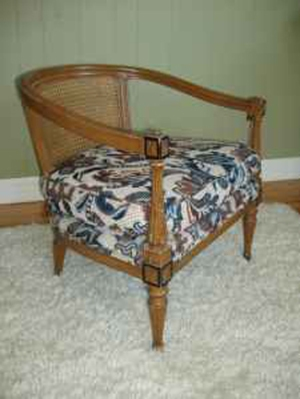wood cane chair before
