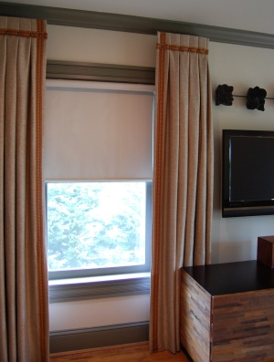 Window treatments and tv