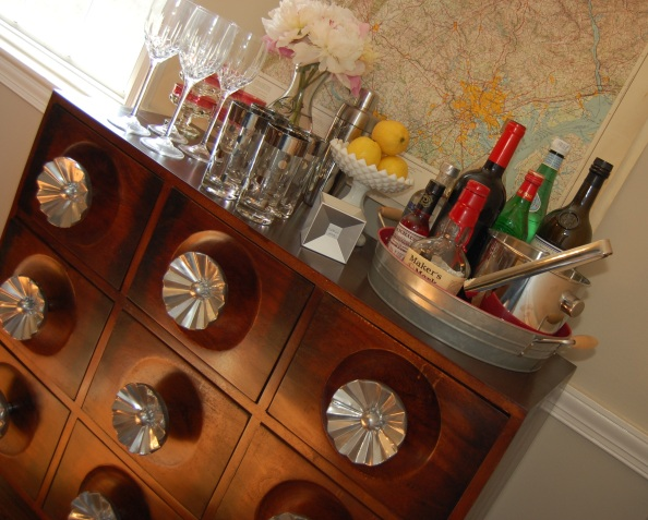 Dresser from Paris used as a bar