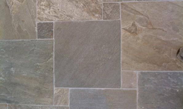 Slate tile for the bar area