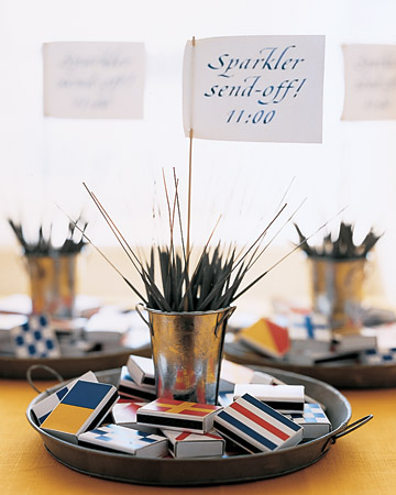 Sparklers with nautical matches