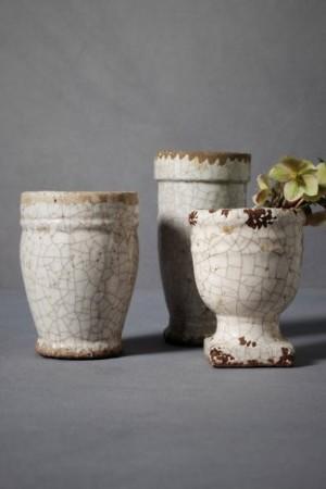 terracotta crackled pots BHLDN