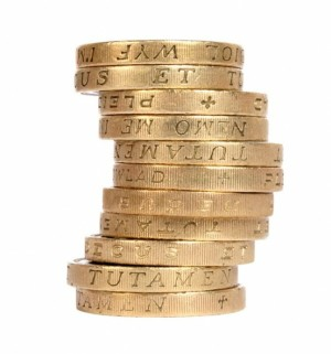 stack of gold pounds