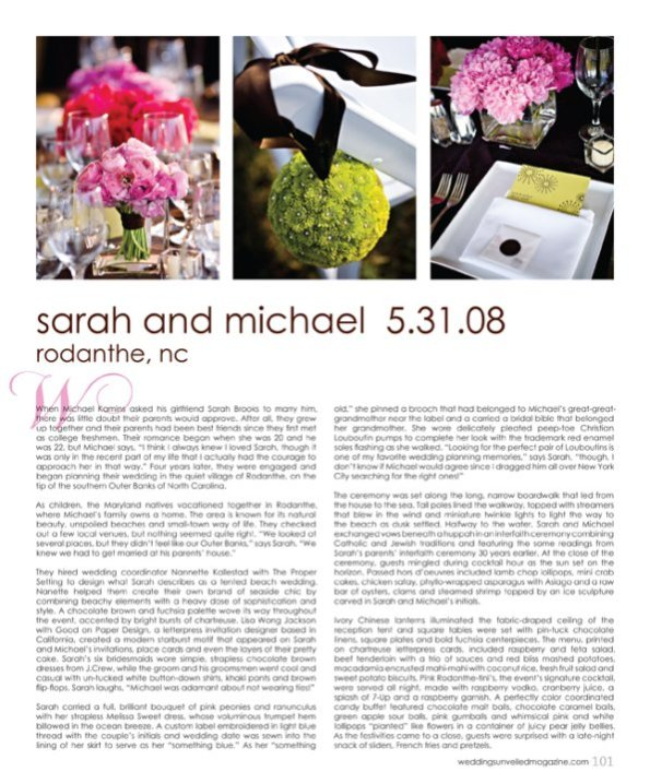 Weddings Unveiled Sarah and Mike page 1