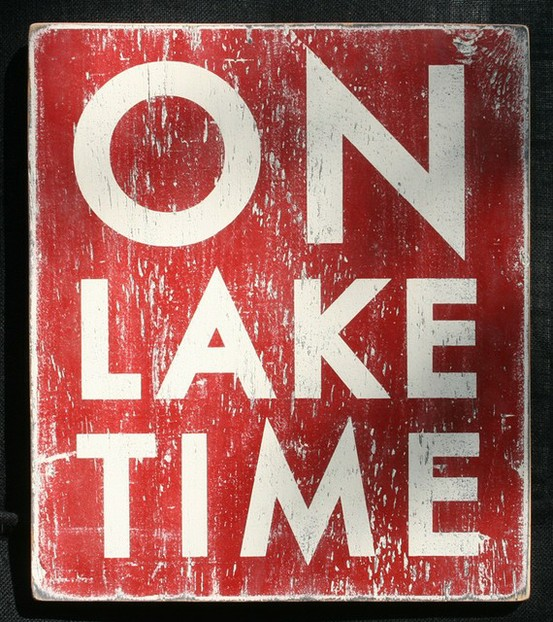 On Lake Time from Etsy
