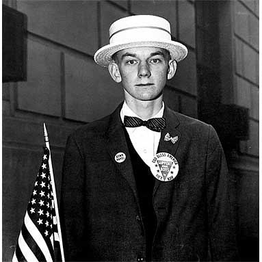Boy with Straw Hat, NYC by Diane Arbus 1967