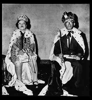 The King and Queen of a Senior Citizen Dance, NYC, 1970