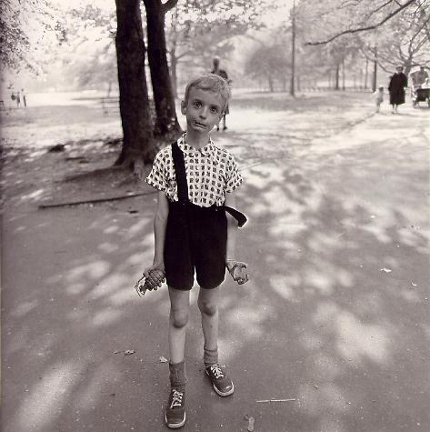 Child with toy grenade Central Park NY 1962 by Diane Arbus