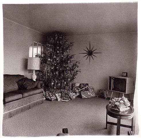 Xmas tree in a Living room in Levington 1963 Diane Arbus