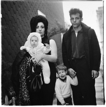 A young Brooklyn family going for a Sunday Outing NY by Diane Arbus