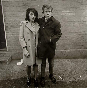 Teenage Couple on Hudson Street, NYC, 1963 by Diane Arbus