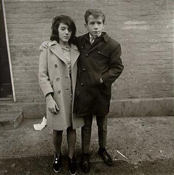 Teenage Couple on Hudson Street, NYC, 1963 by Diane Arbus