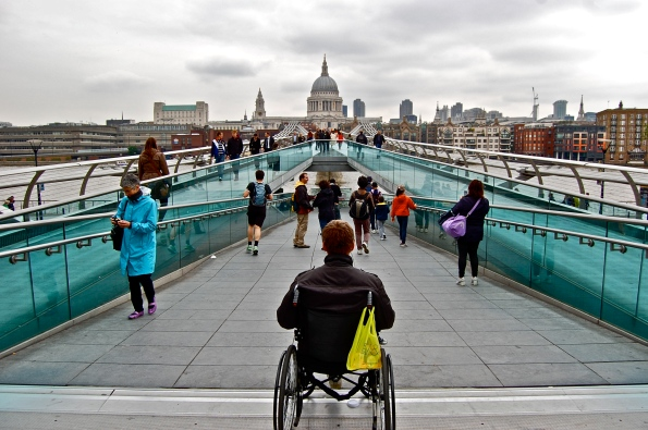 Millennium Bridge and view of St. Paul's