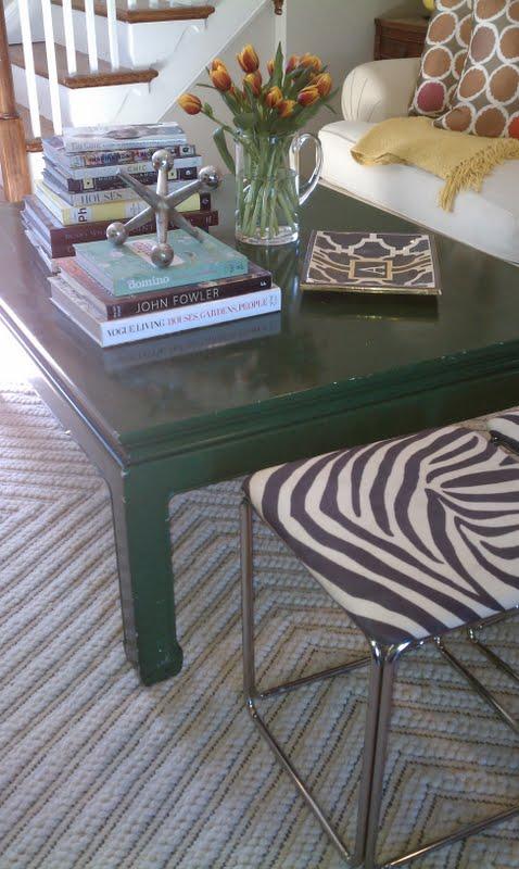 Green coffee table