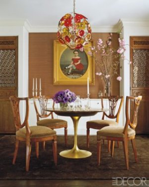 Gretchen Bellinger Elle Decor Dining Room Study