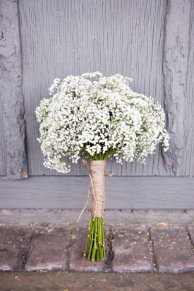 united with love babys breath bouquet
