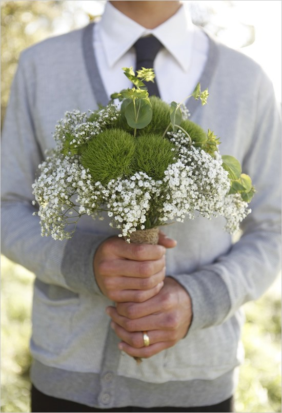 wedding chicks babys breath bouquet Happy Anniversary Mom and Dad