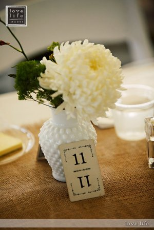 Stephen Bobb floral design and table numbers