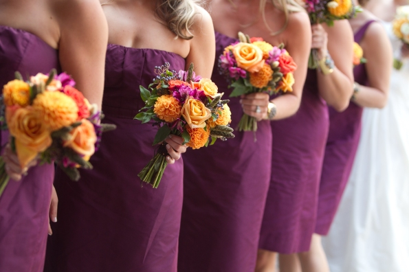 Bridesmaids about to be announced in line