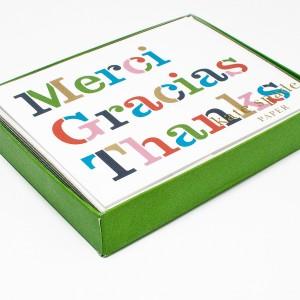 Merci Gracias Thank You note cards