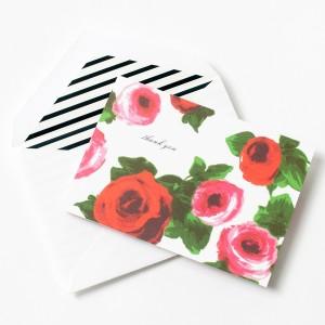 Kate Spade Rose cards