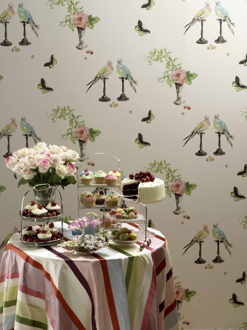 Nina Campbell Perroquet Wallpaper
