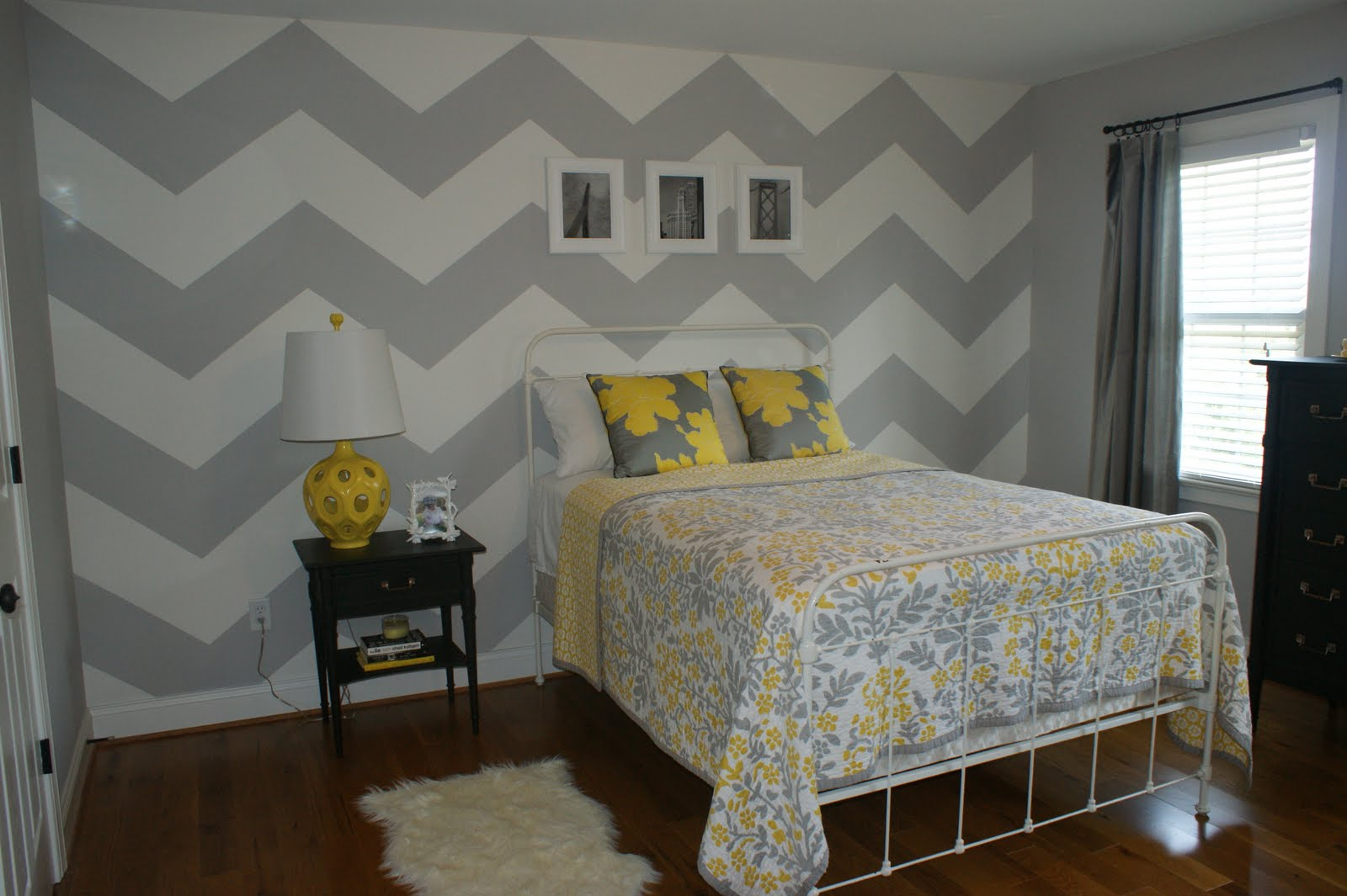 fig tea chevron walls