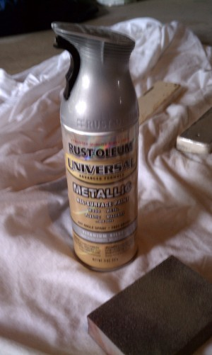 Silver Rustoleum spray paint