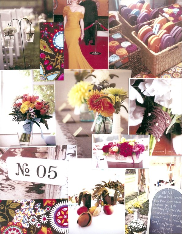 Inspiration board for wedding