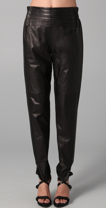 Leather pants for fall 2011