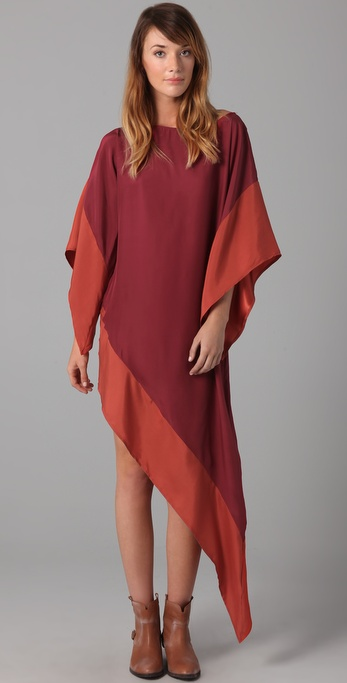 Asymmetrical hem dress for fall 2011